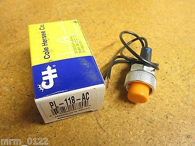 Cole Hersee PL-118-AC Pilot Light With Amber Lens 12V New
