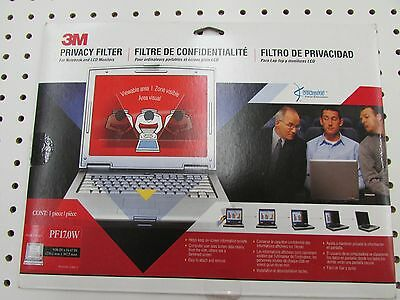 "3M PF17.0W Widescreen Privacy Filter (9.06"" x 14.47"")"