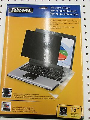 "Fellowes 15"" Standard Privacy Filter (8-7/8"" x 12"")"