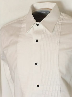 Men's Western Tuxedo White Formal Shirt with Laydown Collar and Black Snaps