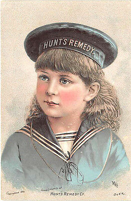Providence RI Hunt's Remedy Kidney & Liver Victorian Trade Card