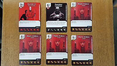 DICE MASTERS MARVEL KNIGHTS OP KIT DAREDEVIL PUNISHER BLACK WIDOW x 4 PROMO