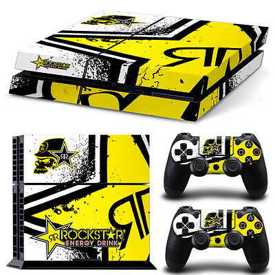 Cool Star Game Cover Skin Sticker Decal for PS4 Playstation Console + Controller