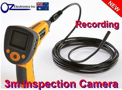 """3m meter Inspection Camera 6 LED Borescope 2.5"""" Colour LCD Endoscope REC NEW"""