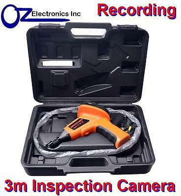 "3m meter Inspection Camera 6 LED Borescope 2.5"" Colour LCD Endoscope Recording"