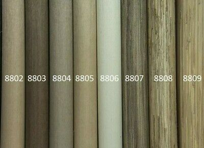 GENUINE Grasscloth Wallpaper  - Warm and Cool Colours - 5.5 metre length rolls