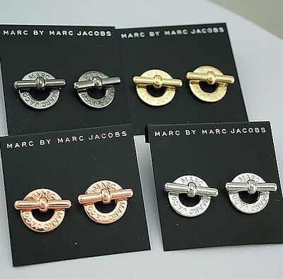 NEW fashion Marc by M Jacob Stud Earrings Gold/ Siver /Rose Gold MMJ earrings