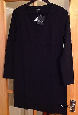 maternity nursing/feeding dress Size UK 14 BNWT TOPSHOP Black Gorgeous