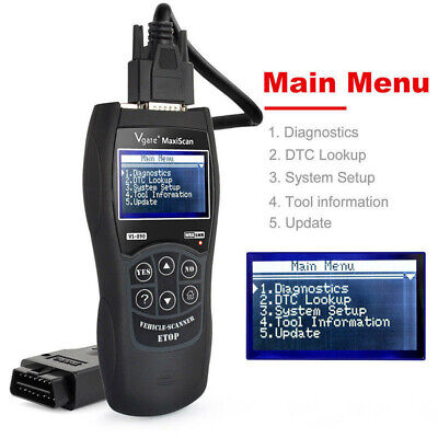 Vauxhall Opel MAXISCAN Fault code Diagnostic Reader Scanner OBD2 EOBD CAN BUS