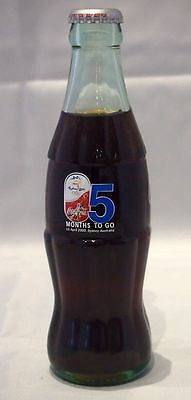 """2000 Sydney Olympics Coca Cola Bottle - """"5 Months To Go"""" -  Month 5"""