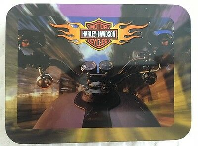 Harley Davidson 2002 Commemorative Double Deck Cards in Tin
