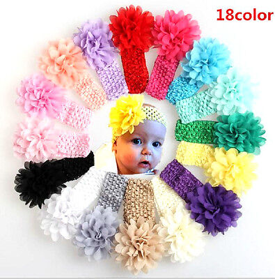 Baby Girls - Infant Girls Various Colour Crotchet Headbands