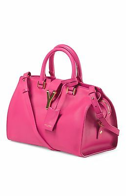 fe8050ad1728 NEW YSL Yves Saint Laurent Y-Ligne Cabas Leather Shoulder Bag Satchel Purse  Bag