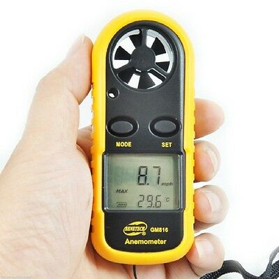 Portable Lcd Digital Anemometer Thermometer Air Wind Speed Meter Tester