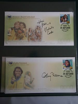 2000 Australian Olympic 16 Personally Signed  Gold Medallist First Day Cover