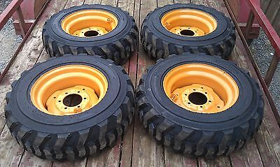 4 NEW 10X16.5 Skid Steer Tires & Rims for Case 1835 ,1838, 1840-10-16.5 -10 ply