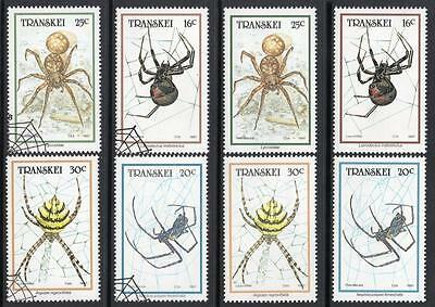 Transkei 1987 Sg205-8 Mnh & Used Cto Spiders