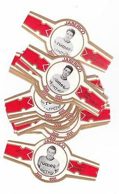 16 cigar bands Jaberico Bicycle Team Romeo red