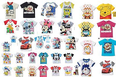100%Cotton Character Cute Baby Boys Girls Kids Short Sleeve T-Shirt/Shirt New