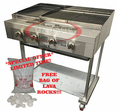 Unique 4 Burner Char Grill Charcoal Grill BBQ Steak Grill For Commercial Use
