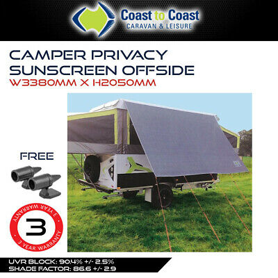 Coast 3.4m Kitchen Sunscreen for Jayco Swan, Flamingo or Penguin Camper Trailer