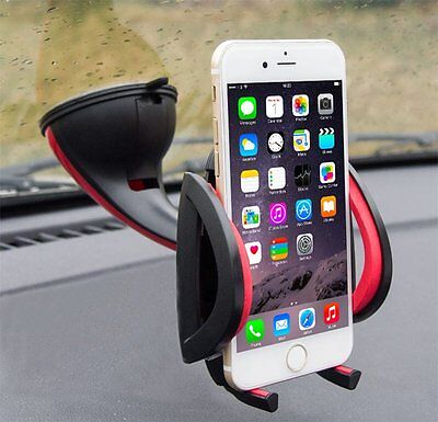 Universal 360°Rotating Car Windshield Mount Holder For Cell Phone GPS 4-7 inch