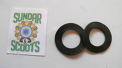 Set Of 2 Wavy Washers.suitable For Lambretta Scooters Gp, Li, Sx And Tv