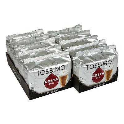 TASSIMO Costa Latte Coffee (Pack of 5, Total 80 discs/pods) New in Box Free Post
