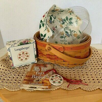 Longaberger ~ 1999 Mother's Day Tea for Two Basket Combo