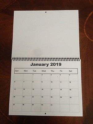 "2019 Blank Calendar ( LOT of 3 ) 8.5"" x 11"" Ready to DECORATE, STAMP, etc."