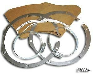 Land Rover Series 1 2 2a 3 & Lightweight Axle Swivel Leather Gaiters Pair 276954