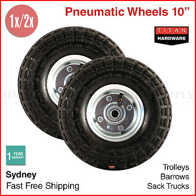 10 Inch Pneumatic Wheels Hand Trolley Cart Sack Truck Wheelbarrow Tyres 16mm