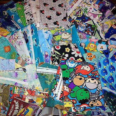 Cartoon Remnant fabric by the pound 100% Cotton Quilt Fabric