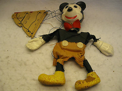 Vintage 1952 Mickey Mouse Marionette with Unitrol Control As/Is