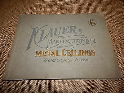 Vintage Antique Klauer's Perfection Metal Ceilings CATALOG B-21 Dubuque, Iowa