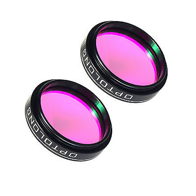 """2Pcs Optolong 1.25"""" Nebula Filter UHC for Cuts Light Pollution free shipping hot"""