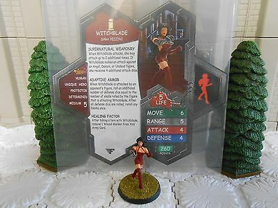 Heroscape Custom Witchblade Double Sided Card & Figure w/ Sleeve Image