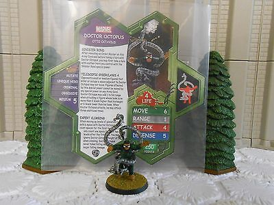 Heroscape Custom Doctor Octopus Double Sided Card & Figure w/ Sleeve Marvel