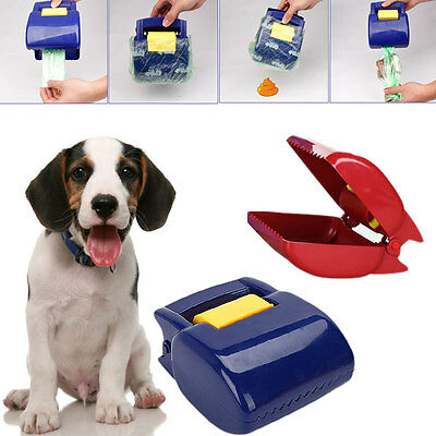 Portable Pet Dog Cat Puppy Pooper Scooper Waste Tool Handle Clean Poop Pick up