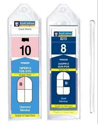 "8 Pack of Cruise Ship Luggage Tags (Narrow) with 6"" Loops for Royal Caribbean an"