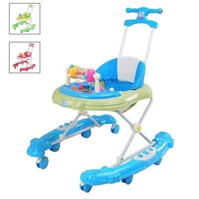 New Baby Walker Toddler Lights/Music Toy Activity Learning Assistant Hand Push
