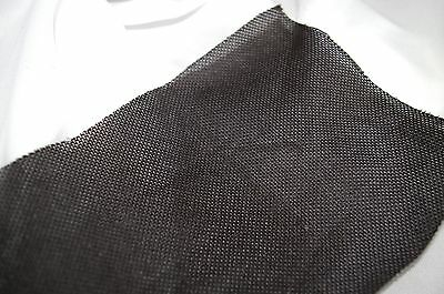 WIDE WEAVE BLACK SPEAKER FABRIC / CLOTH / GRILLS / - 500mm x 850mm - STRONG