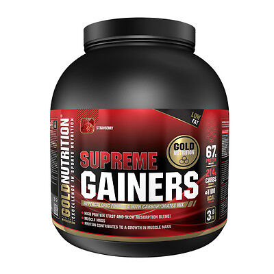 Voluminizador Supreme Gainers 3 Kg. Fresa - Gold Nutrition