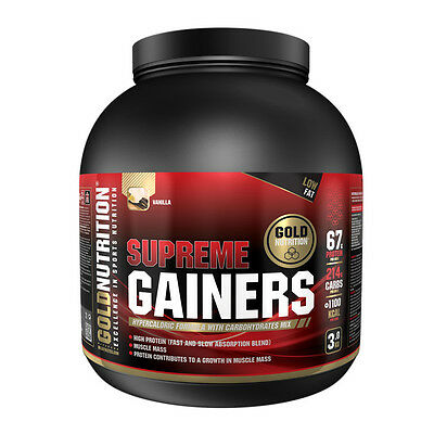 Voluminizador Supreme Gainers 3 Kg Vainilla - Gold Nutrition
