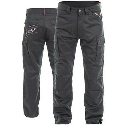 RST Black Aramid Cargo Utility Armoured Motorcycle Motorbike Jeans | All Sizes