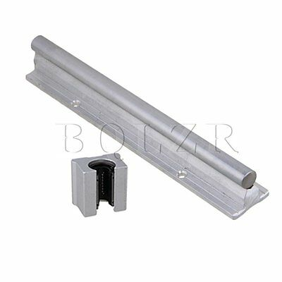 2pcs Open Linear Bearing Slide and 12mm Shaft Dia 200mm Linear Bearing Rail