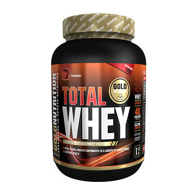 Proteina Total Whey 1 Kg Sabor Fresa - Gold Nutrition