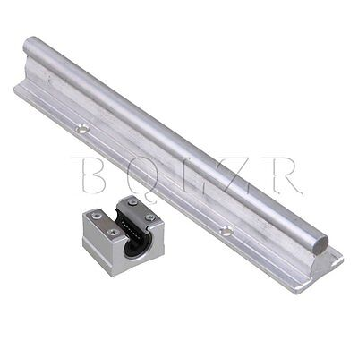 Silver 200mm SBR10 CNC Linear Motion Bearing Rail & Open Slide Set of 2