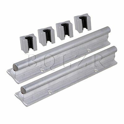 6pcs Open Linear Bearing Slide and 12mm Shaft Dia 200mm Linear Bearing Rail