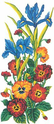 Grafitec Printed Tapestry/Needlepoint Canvas – Pansies & Iris